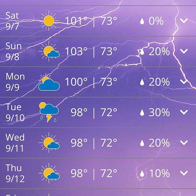 Welcome to fall? September in Alabama. Sheesh.